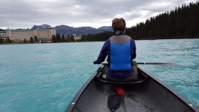 Paddling on Lake Louise October 2015