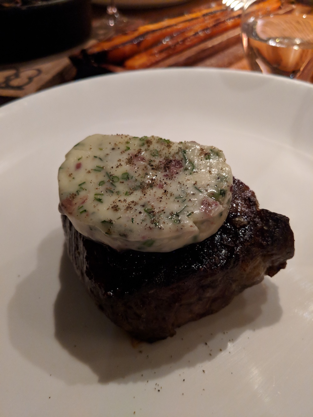 Brant Lake Beef Tenderloin topped with Herbed Butter