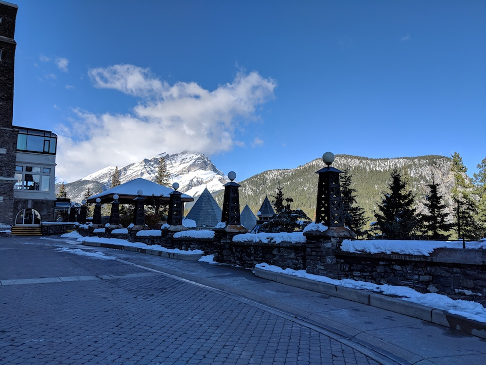 Walking around the Banff Springs hotel
