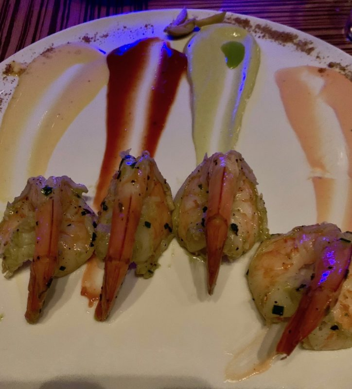 Jumbo Shrimp Cocktail with a selection of creative sauces