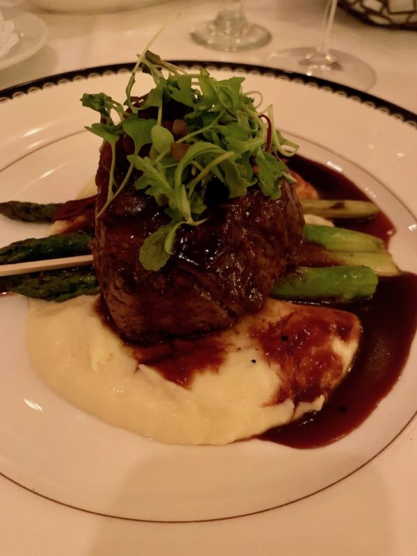 Oak-grilled beef filet
