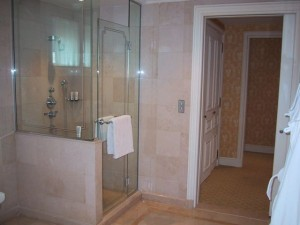Spacious Marble Shower