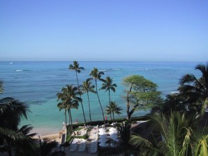 Overlooking Waikiki Beach in Oahu