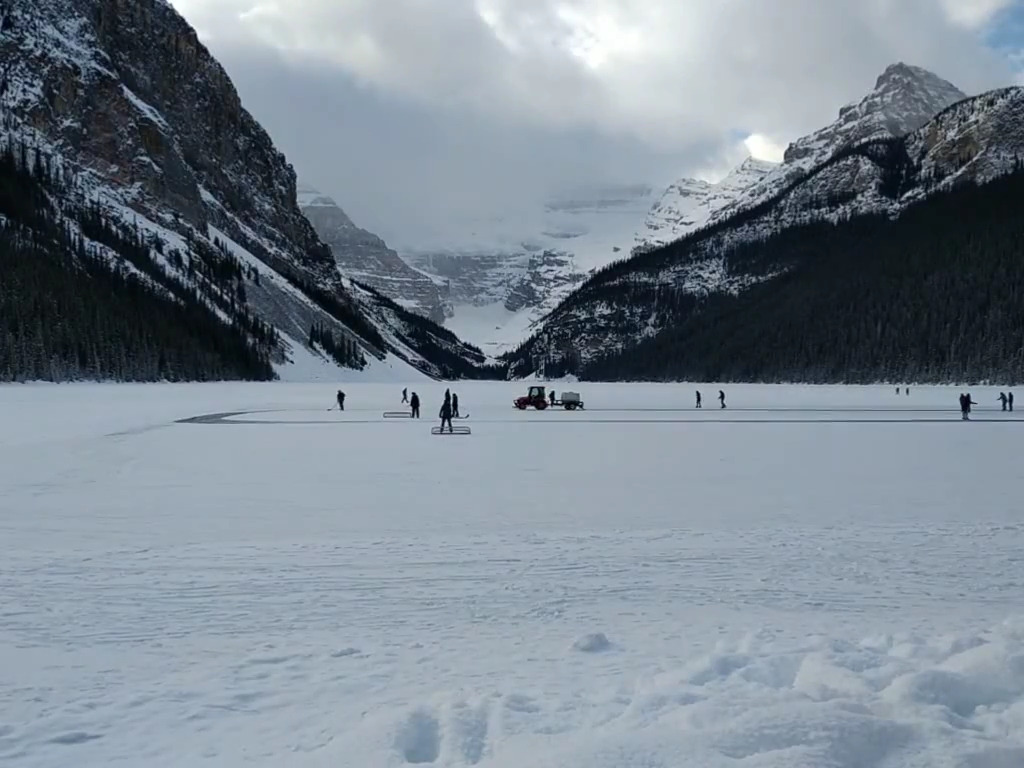 Skating on Stunning Lake Louise