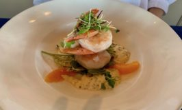 Slow Poached and Chilled Shrimp Appetizer