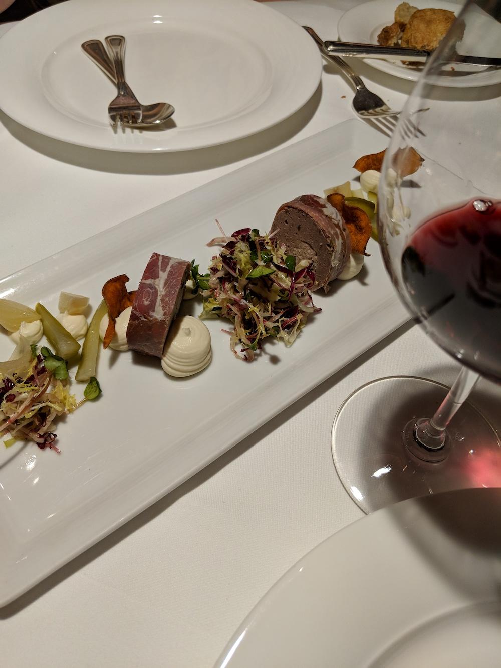 Terrine - Venison mousse, tarragon pork
