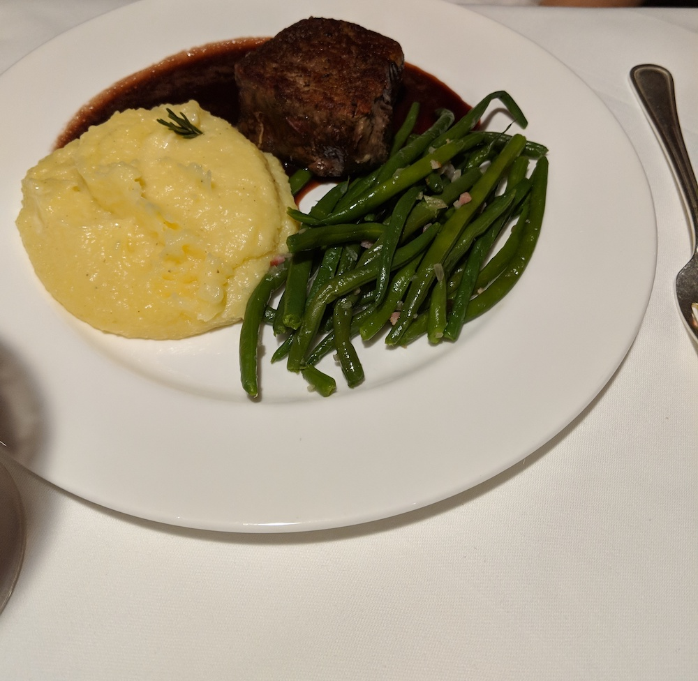 Beef Tenderloin with Mashed Potatoes