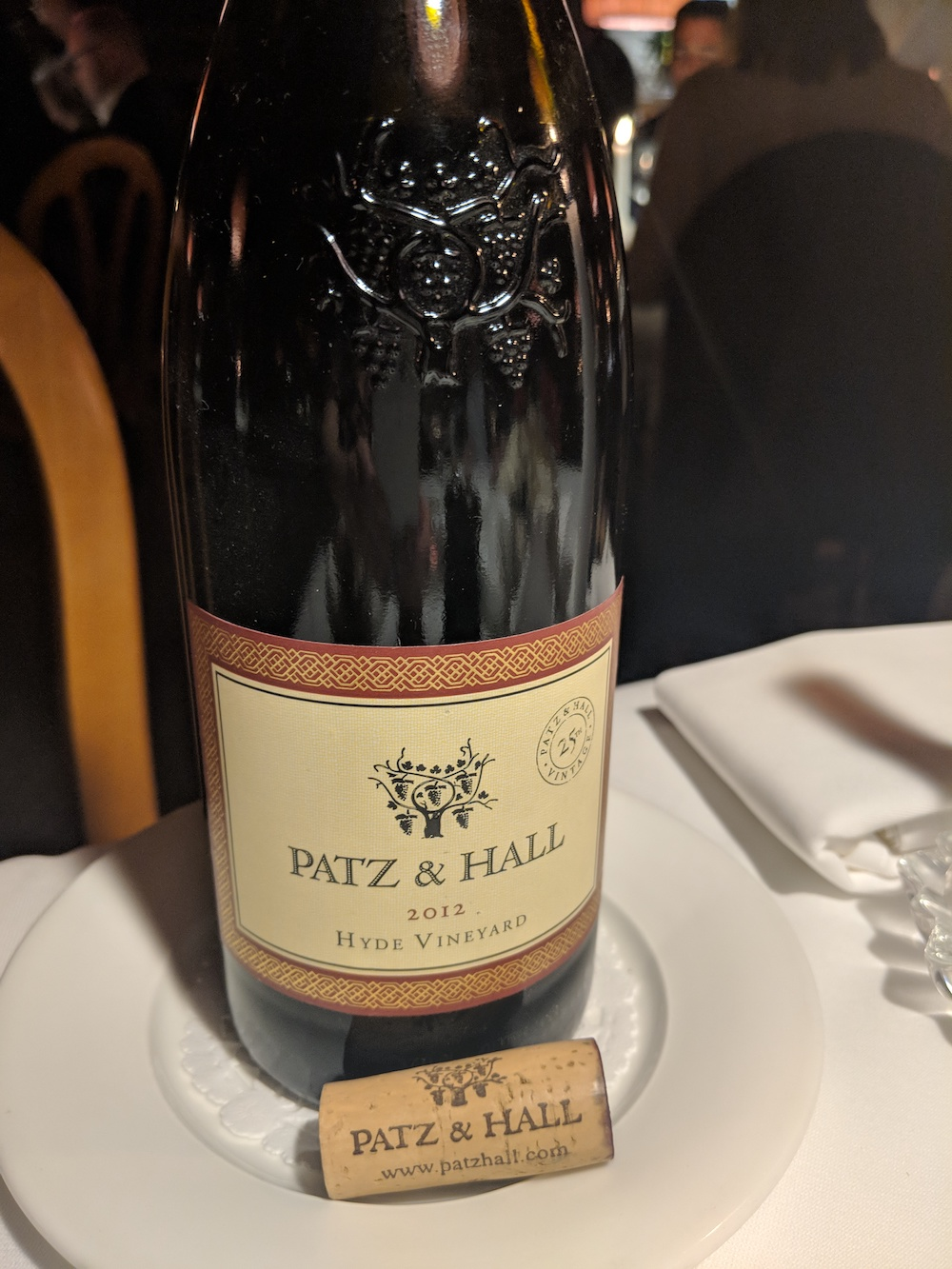 Patz and Hall Pinot Noir 2012