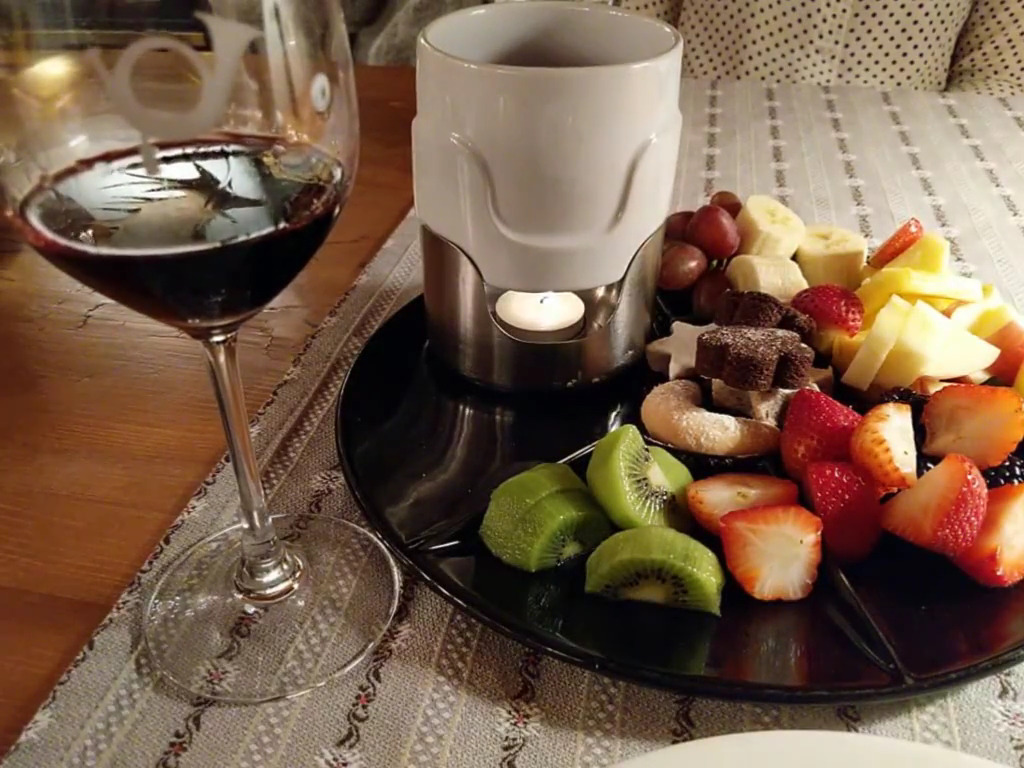 Cozy Chocolate Fondue at the Post Hotel