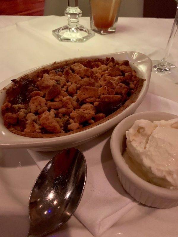 Apple Crisp and Hagen Daas Ice Cream
