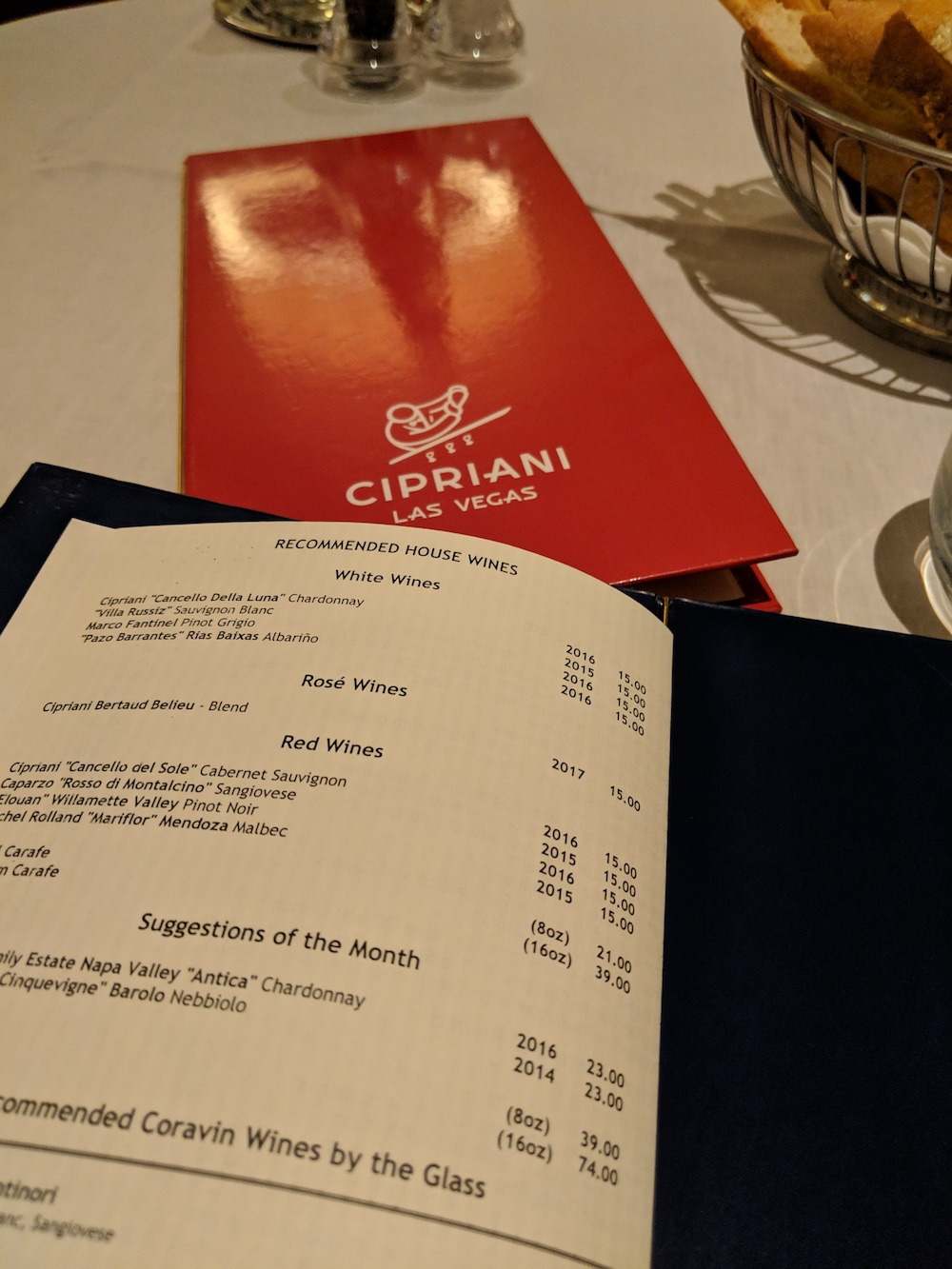 Cipriani House Wines