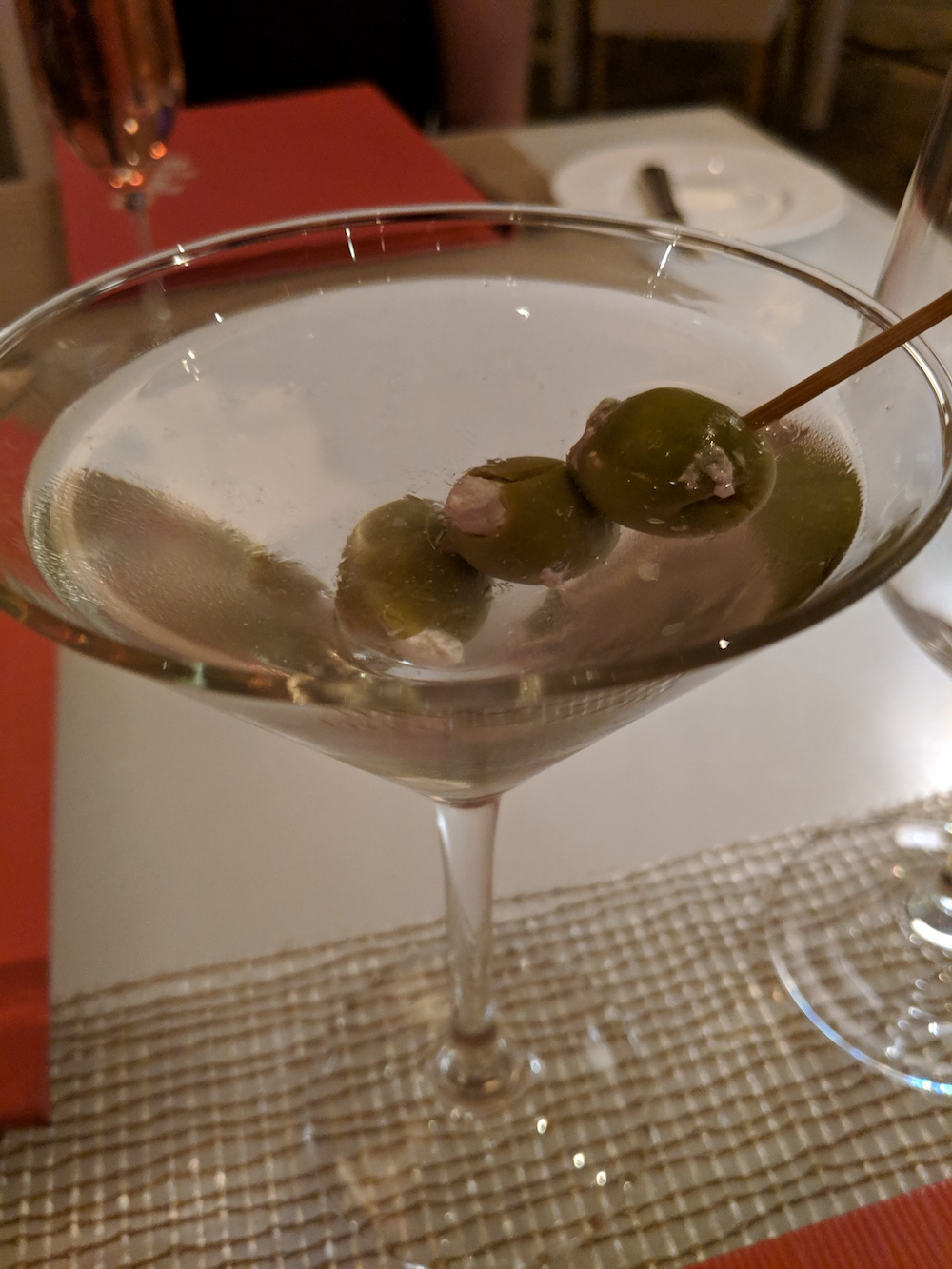 Martini at Lakeside, with Chopin and Blue Cheese Olives