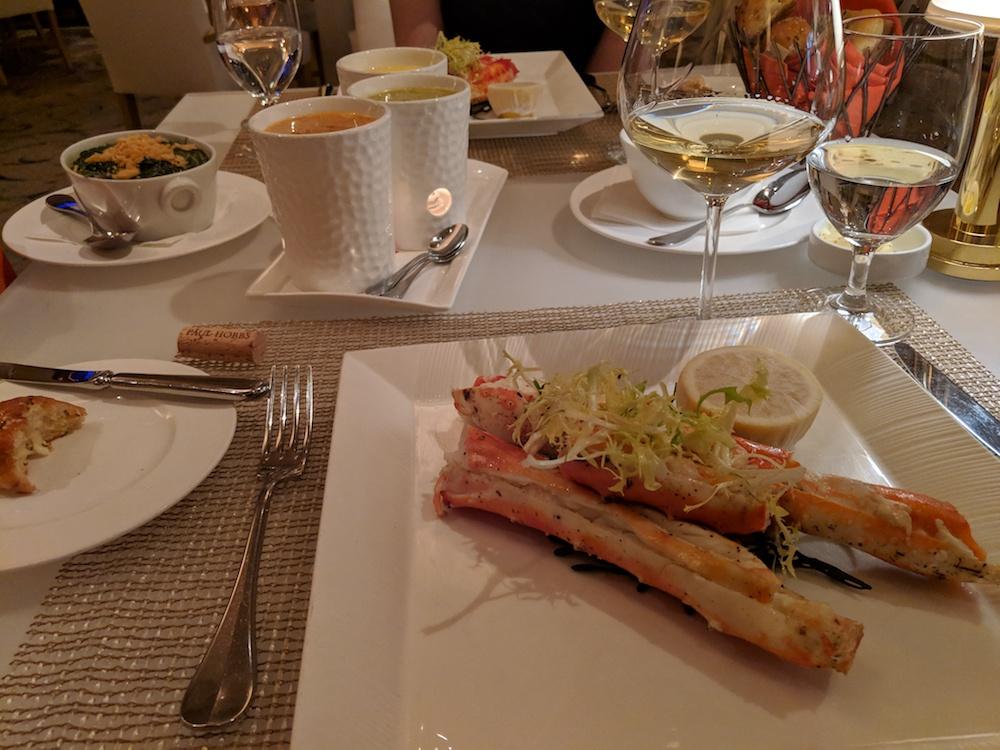 An elegant seafood feast