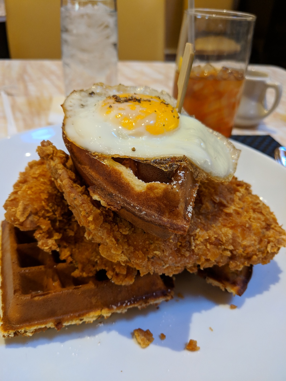 Crispy Fried Chicken and Waffles
